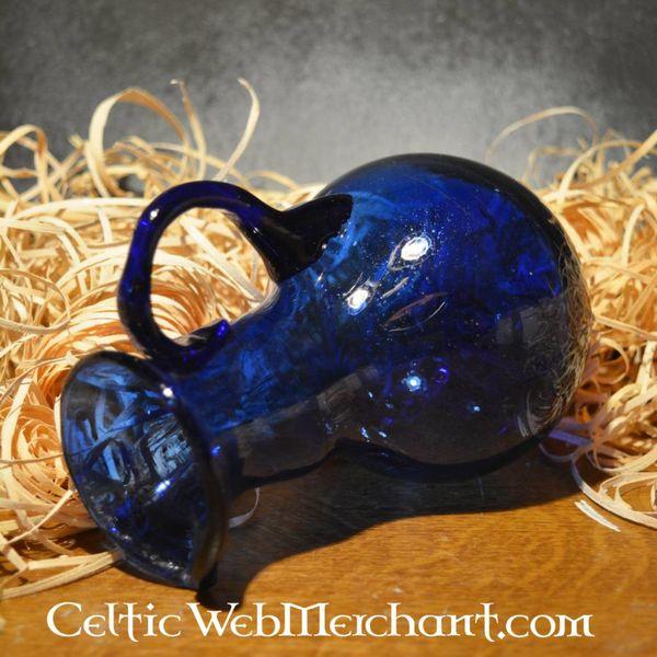 Romeinse glazen schenkkannetje blauw