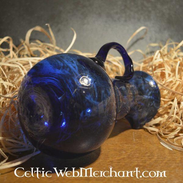 Roman glass pouring jug, blue
