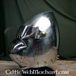 Battle-ready closed bascinet