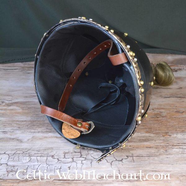 Deepeeka casco Rusvik con crine di cavallo