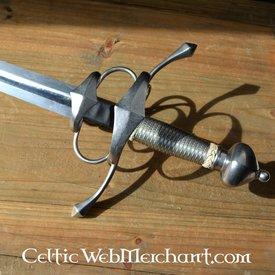 CAS Hanwei Side Espada con acero whire envoltura mano