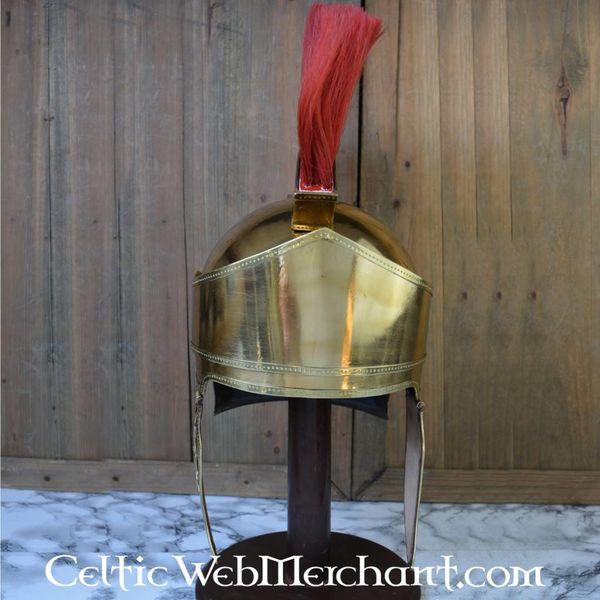 Deepeeka Attic hjelm med våbenskjold, messing