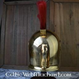 Elmo attico con cresta, ottone