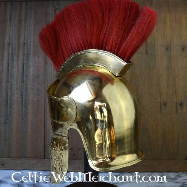 Attic helmet with crest, brass