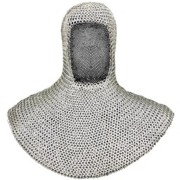 Chainmail coif, butted round rings