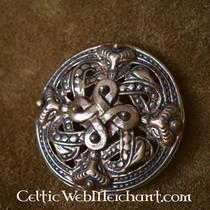 Broche Viking, style Borre, en bronze
