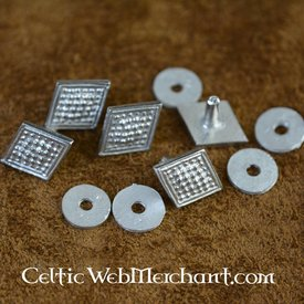 14th-15th century lozenge belt fitting, set of 5 pieces
