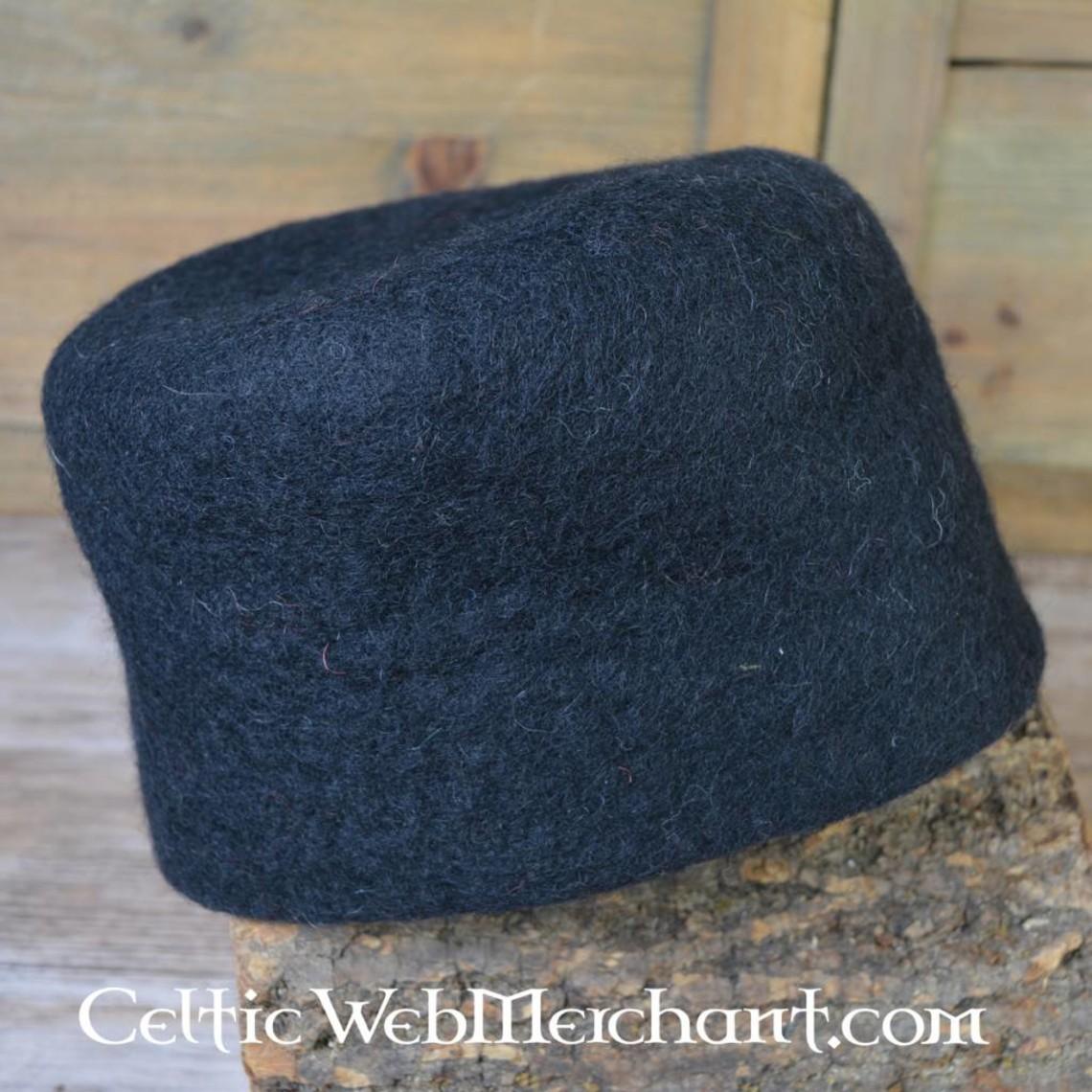 Leonardo Carbone siglo 15 sombrero de fieltro Durero, negro