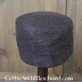 siglo 15 sombrero de fieltro Durero, marrón