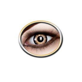 Epic Armoury lentes de contato de cor preta e amarela