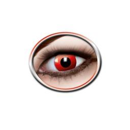 Kolorowe soczewki czerwonych oczu