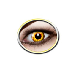 Coloured contact lenses yellow and red