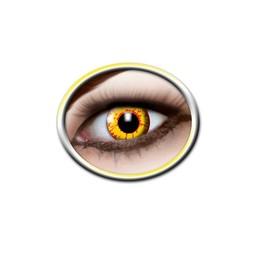 Farbige Kontaktlinsen gelb und rot