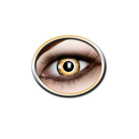 Epic Armoury Farbige Kontaktlinsen gelb und weiß