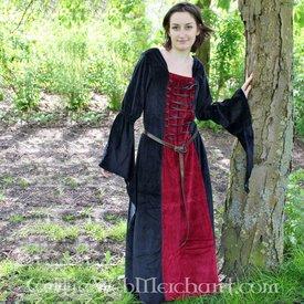 Leonardo Carbone Vestido Aline rojo-negro