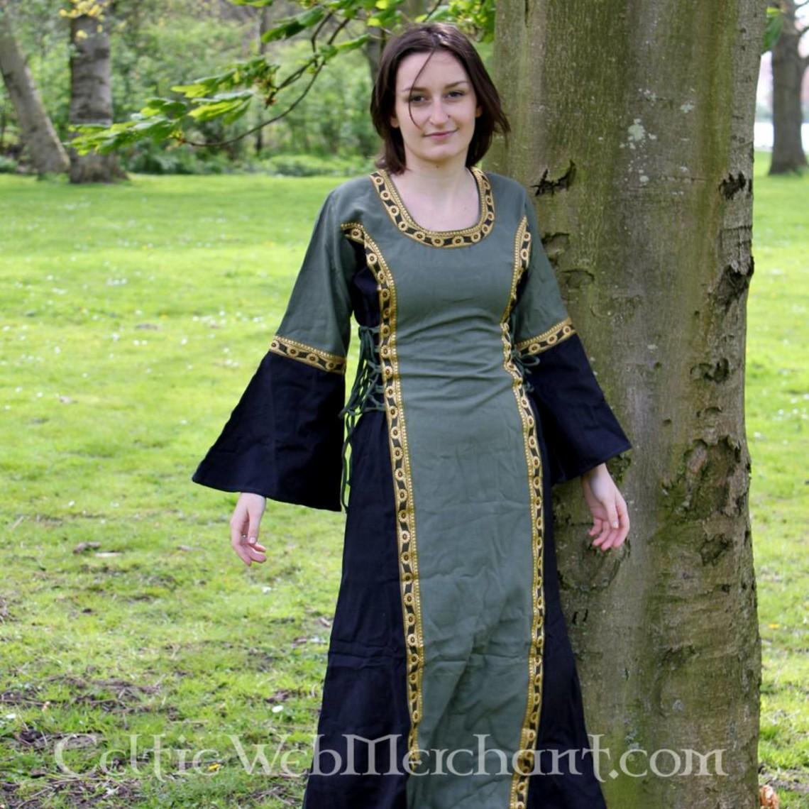 Leonardo Carbone Vestido Cleena verde-negro