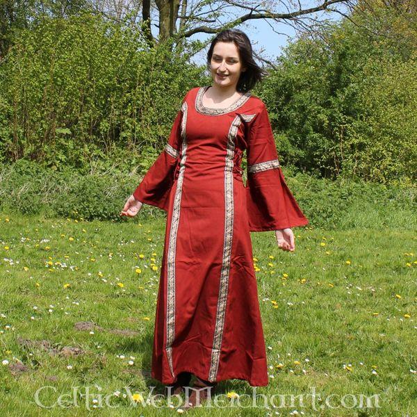 Jurk Cleena rood
