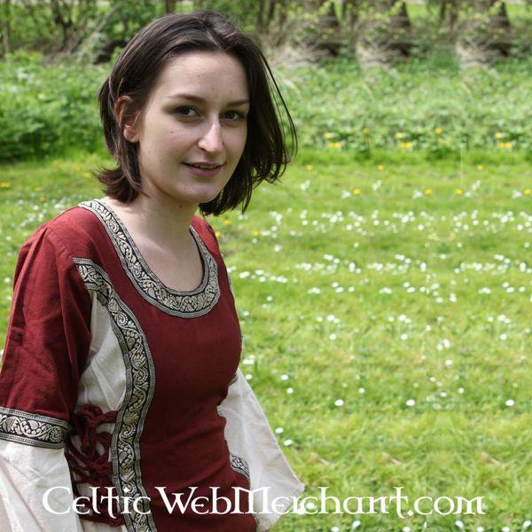 Kleid Cleena Creme-rot