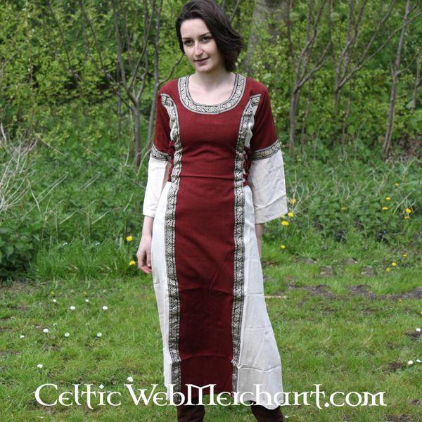 Dress Cleena cream-red