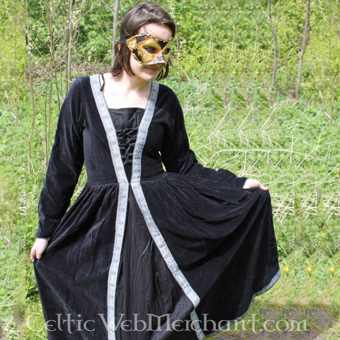 Leonardo Carbone Vestido Borgia negro