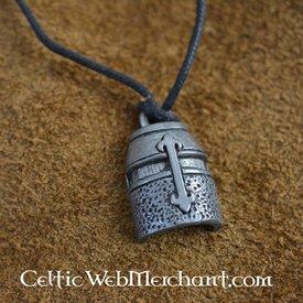 Templar wielki hełm wisiorek