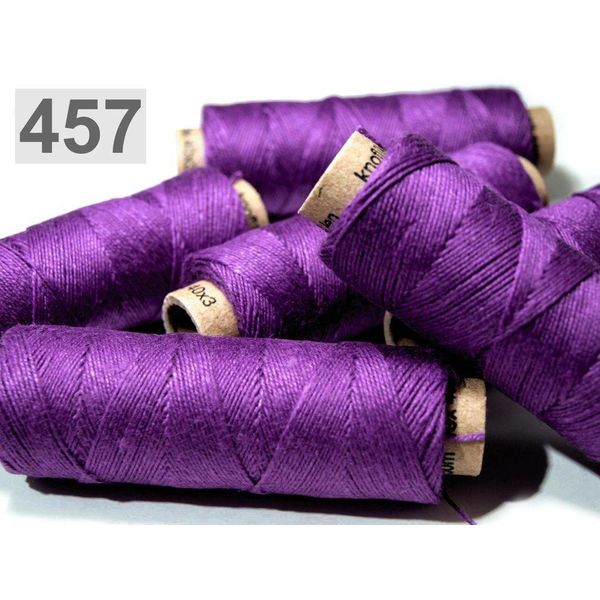 Linen yarn purper 50m