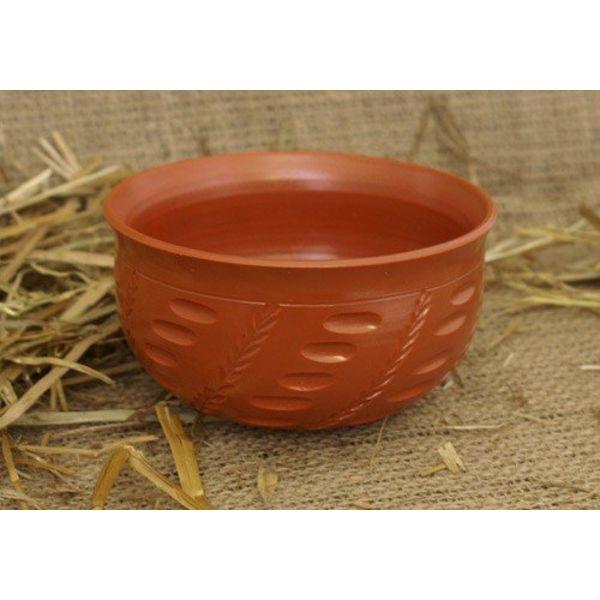 Romersk skål med korn motiver (terra sigillata)