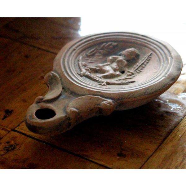 Roman oil lamp Cleopatra