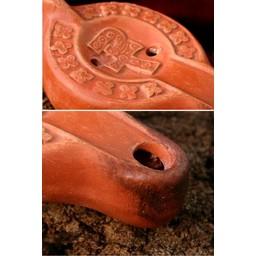 Roman oil lamp with Chi-Rho cross