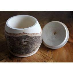 Birch wood jar