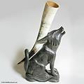 Holztrinkhorn Ständer Wolf
