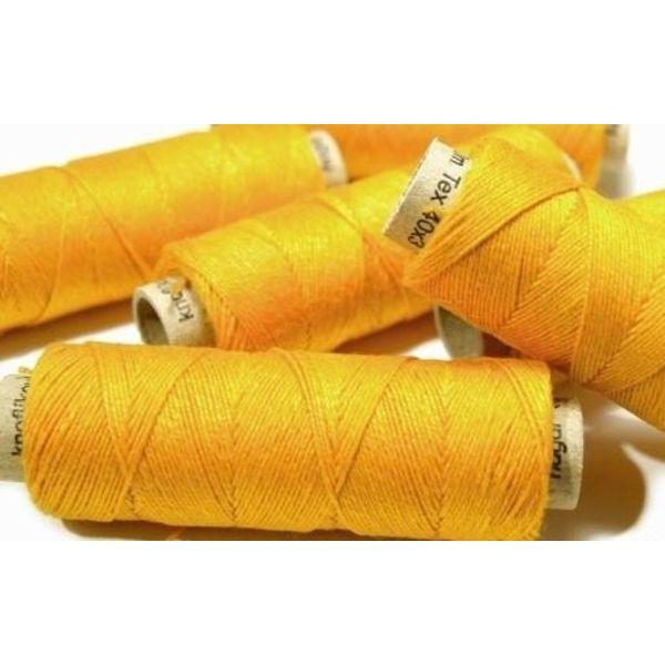 Fil de lin, jaune, 50 m