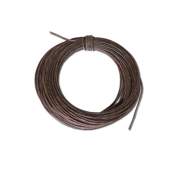Bracelet en cuir brut 1,75 mm, prix au mètre