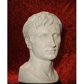 Bust kejsare Augustus Prima Porta stor