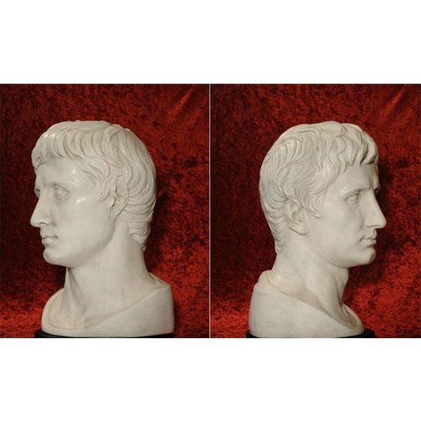 Bust kejser Augustus Prima Porta stor