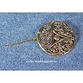 Celtic brooch triskelion