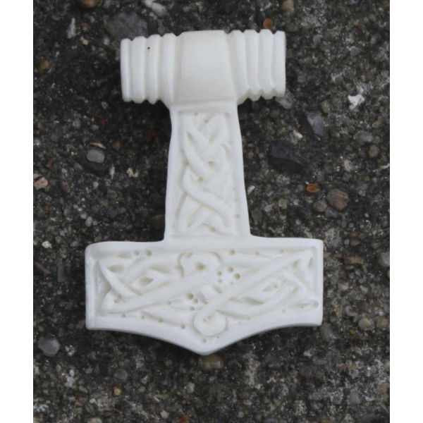 Bone Thors hammer with knot motive