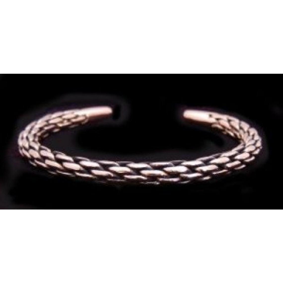 Gevlochten bronzen armband