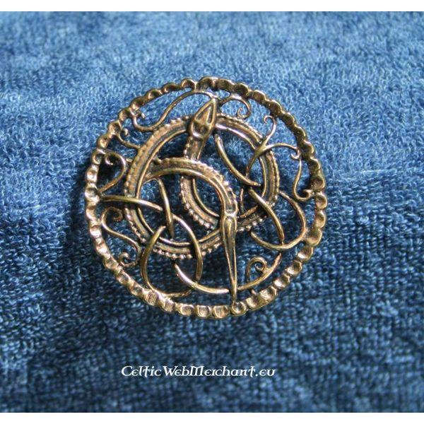 Viking brooch with midgard snake