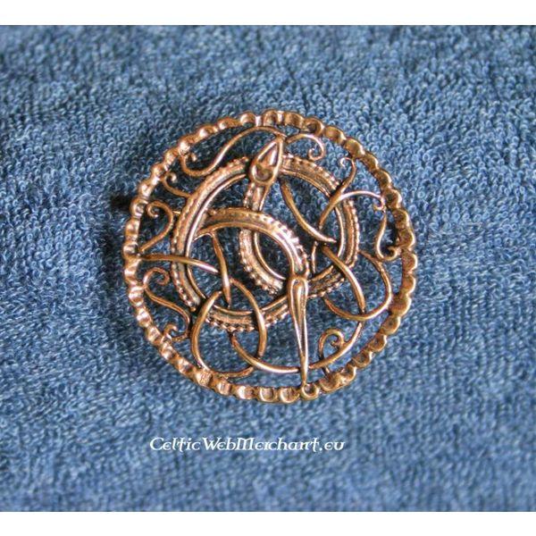 Viking broche med Midgård slange