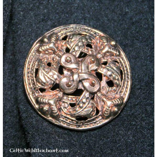 styl Viking broszka brąz Borre