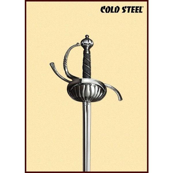 Cold Steel Rapière avec garde en forme de coquille