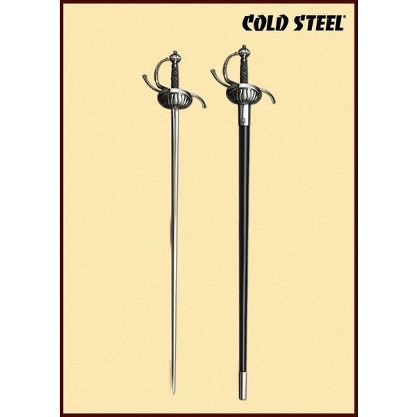 Cold Steel Rapier with shell-shaped guard