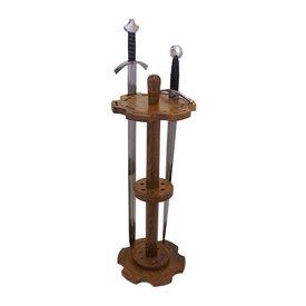 Okrągły stojak miecz