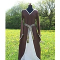 Vestido Clara (marrón-blanco)