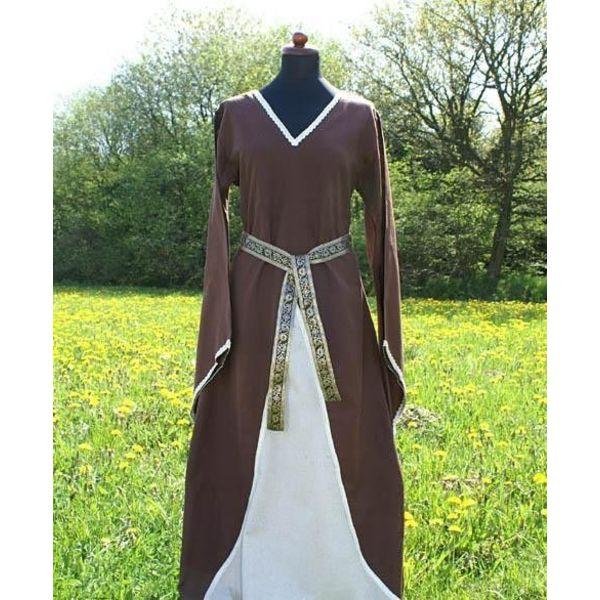 Robe Clara, marron et blanc