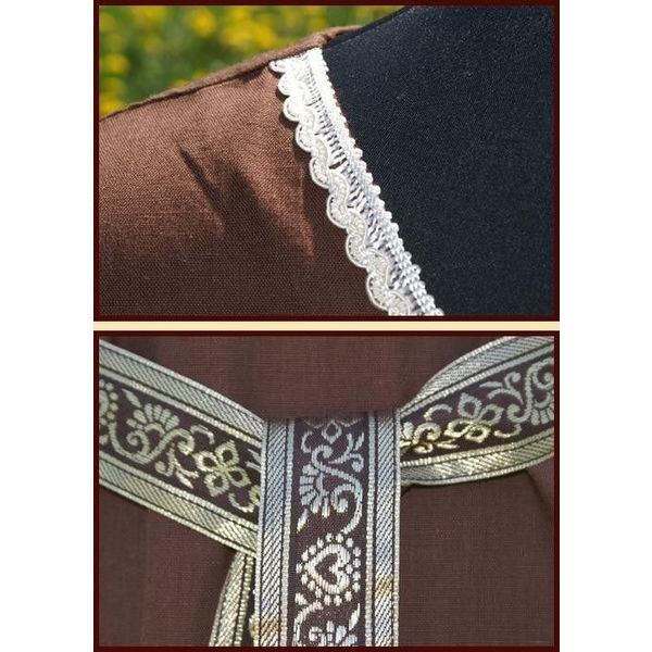 Kleid Clara (braun-weiß)