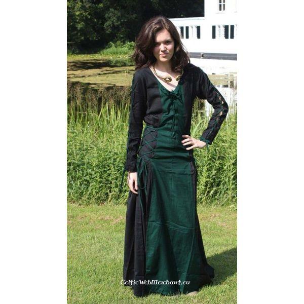 Kleid Fea schwarz-grün