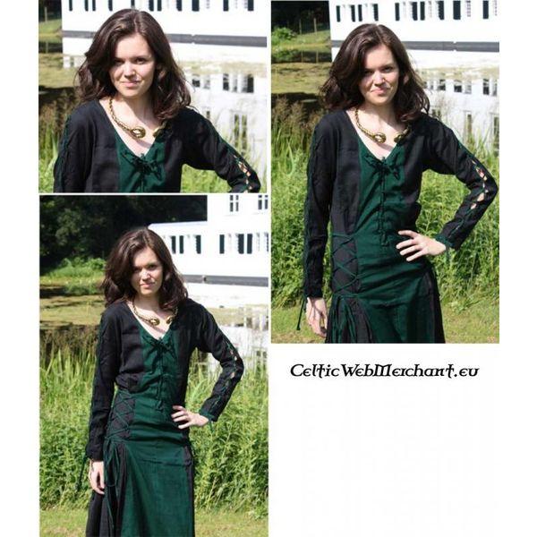 Sukienka Fea czarno-zielony