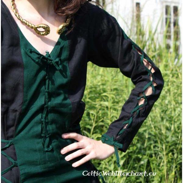 Leonardo Carbone Kjole Fea sort-grøn